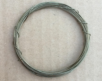 Coloured Copper Wire, Pewter, 0.5mm, 24 Gauge, 4m (4.3 yards) Metalwork,  Mixed Media, Jewellery making