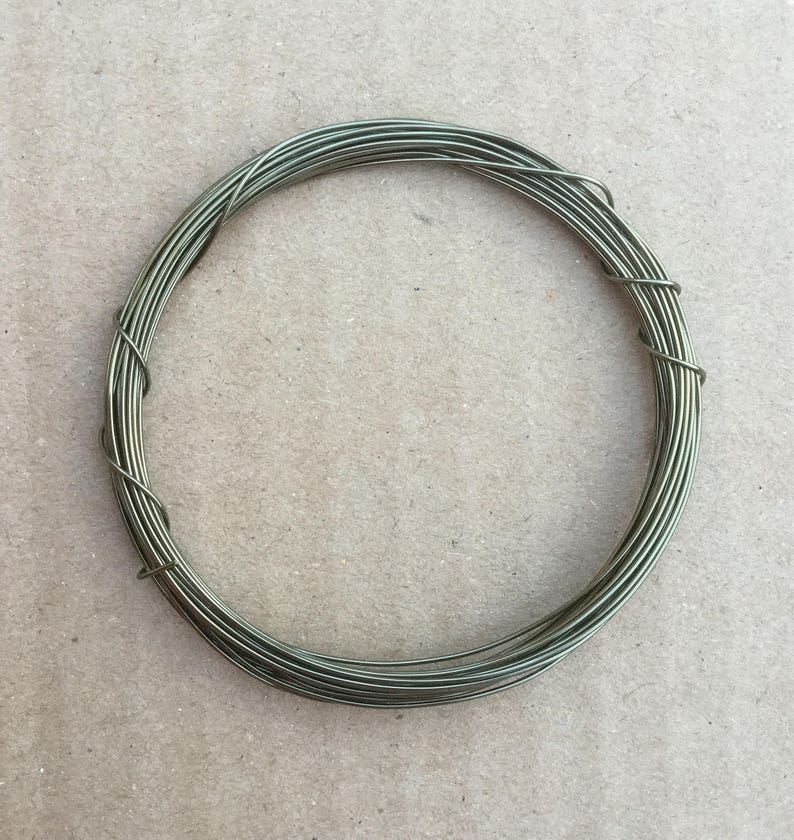 4.3 yards Pewter 4m Metalwork 0.5mm Mixed Media 24 Gauge Coloured Copper Wire Jewellery making