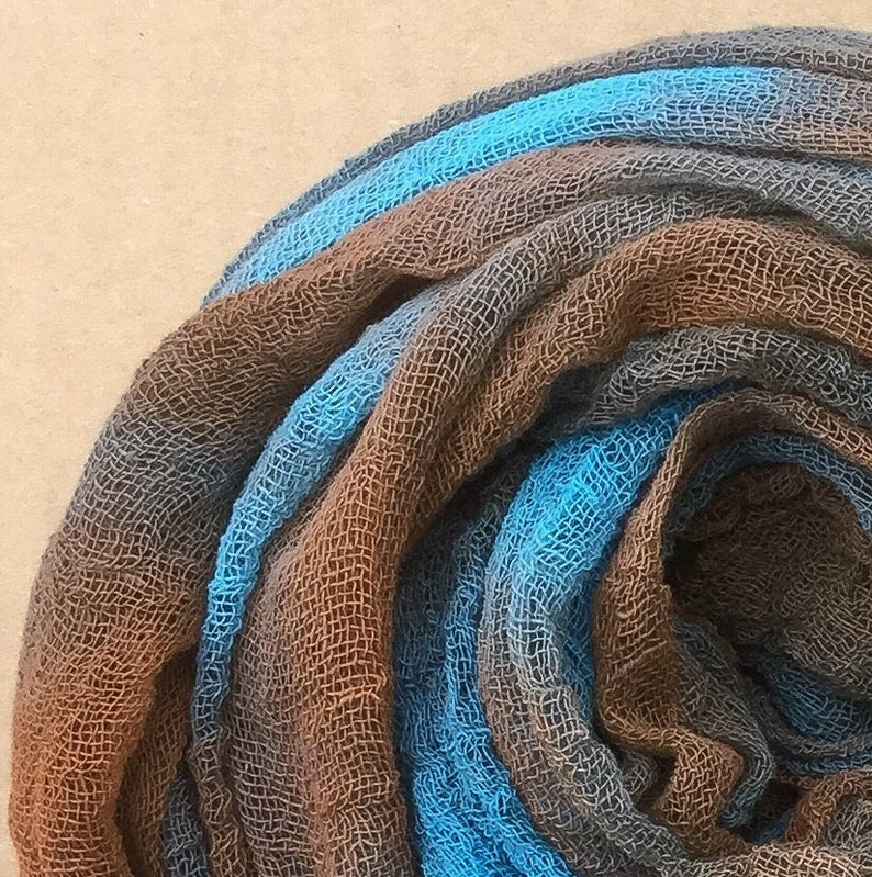 Dyed Butter Muslin Hand Dyed Gauze Colour No.21 Rust Nuno felting Cotton Scrim UK Seller Openweave Fabric