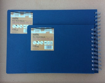 Sketchbooks, Seawhite Eco Sketchbooks, Recycled, A5/A4 Landscape, Ringbound