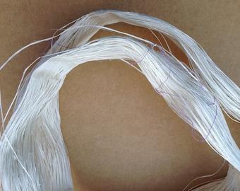 Mulberry Silk String, 79g (2.8ounces) Thin Silk String, Natural Silk Yarn, Weaving, Knitting, Mixed Media, Crochet