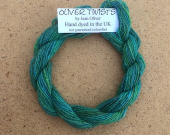 Silk Bourette No.20 Jade, Hand Dyed Embroidery Thread, Artisan Thread, Textile Art, No.20 Jade