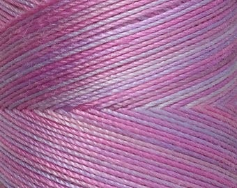 No.30 Light Candy Floss, Hand Dyed Cotton Machine Thread, Individual Spool 150m, Machine Embroidery, machine Quilting