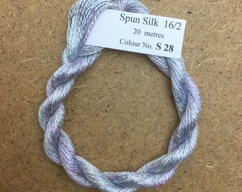 Silk 16/2 No.28 PalmaViolet, Embroidery Thread, Hand Dyed Embroidery Thread, Artisan Thread, Textile Art