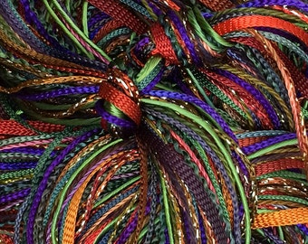 Hand Dyed Embroidery Thread, Ecclesiastical, One Off Special, Limited Edition, Textured Threads, Variegated Threads