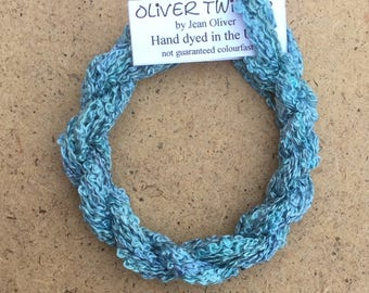 Silk Boucle No.38 Hydrangea, Hand Dyed Embroidery Thread, Artisan Thread, Textile Art