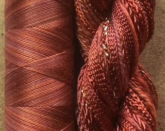 Hand Dyed Embroidery Threads, Two of a Kind, No.12 Terra Cotta, Thread Selection, Embellishment Threads, Quilting Supply, Embroidery