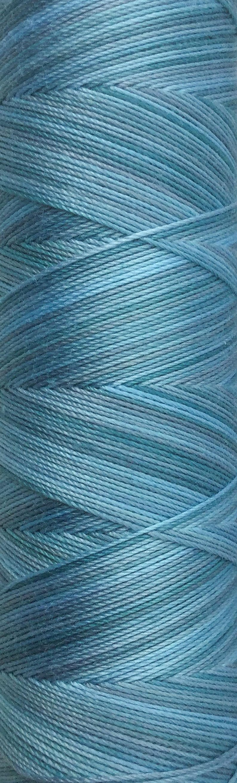 No.33 Aquamarine Hand Dyed Cotton Machine Thread Individual image 0