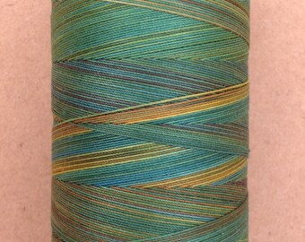 Hand Dyed Cotton Machine Quilting Thread, Machine Embroidery Thread, 750m (820yds) Colour No.09 Apple