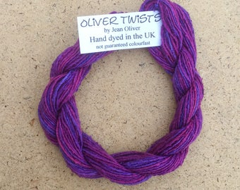 Silk Bourette No.05 Violet, Hand Dyed Embroidery Thread, Artisan Thread, Textile Art, No.05 Violet