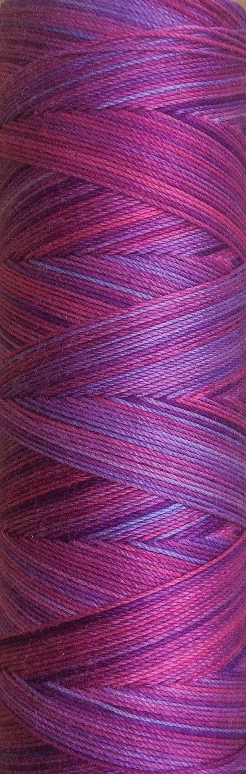 machine Quilting Machine Embroidery Hand Dyed Cotton Machine Thread No.05 Violet Individual Spool 150m