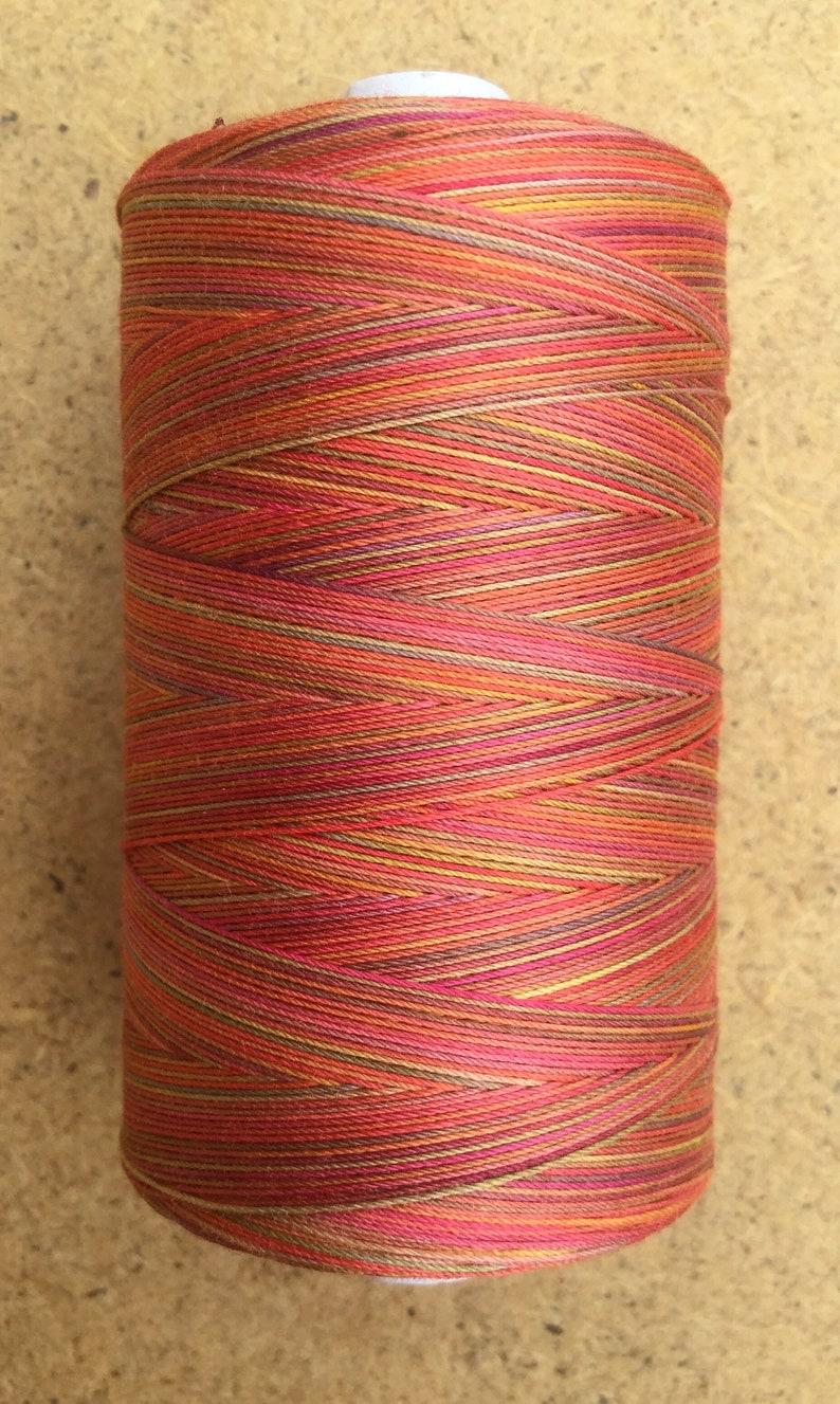820yds Hand Dyed Cotton Machine Quilting Thread Machine Embroidery Thread Red Yellow Ochre Mix Eygyptian Cotton 40wt 750m Orange