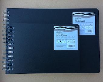 Sketchbooks, Seawhite Euro Sketchbooks, A5/A4 Landscape, Ringbound