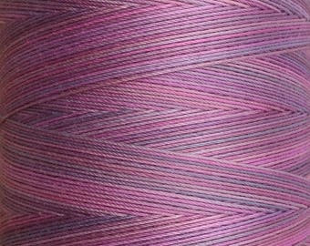 Hand Dyed Cotton Machine Quilting Thread, Machine Embroidery Thread,  Eygyptian Cotton 40 weight, 750m (820yds) Colour No.17 Ruby (0.25%)
