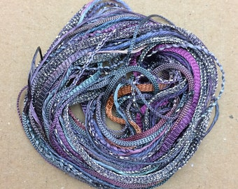 Tidbits, Grape, Hand Dyed Embroidery Threads, Creative Embrodery