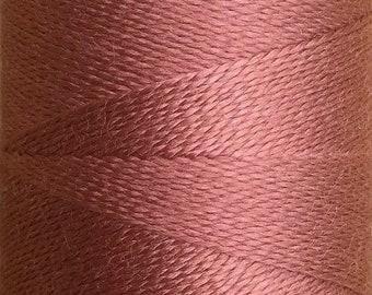 Puce, Silk Machine Threads, 100% Mulberry Silk, Plain Dyed, Luxury Silk Threads, Spun Silk, Solid Colours, 300m, 325yds