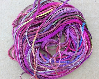 Tidbits, No.16 Jenny's Rainbow, Hand Dyed Embroidery Threads, Creative Embrodery