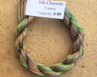 Silk Chainette No.09 Apple, Hand Dyed Embroidery Thread, Artisan Thread, Textile Art