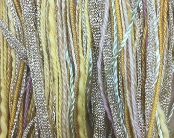 Buttermilk, One Off Special, Limited Edition, Hand Dyed Embroidery Thread, Textured Threads, Variegated Threads