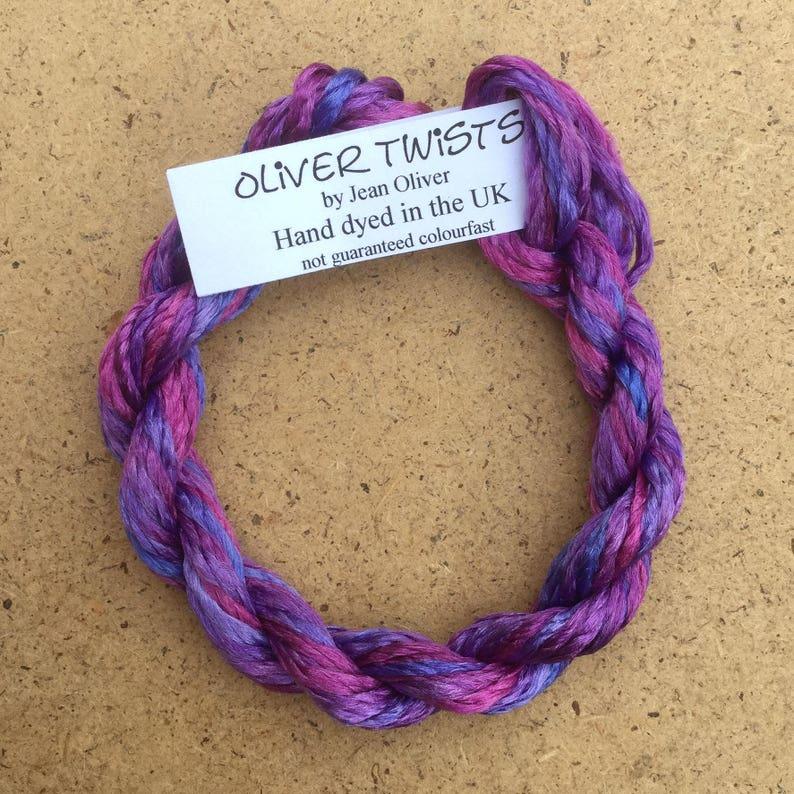 Artisan Thread No.05 Violet Embroidery Thread Hand Dyed Embroidery Thread Silk Filament No.05 Violet Textile Art