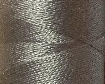 Silver Grey, Silk Machine Threads, 100% Mulberry Silk, Plain Dyed, Luxury Silk Threads, Spun Silk, Solid Colours, 300m, 325yds