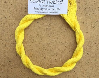 Silk 30/2 Acid Yellow, Embroidery Thread, Hand Dyed Embroidery Thread, Artisan Thread, Textile Art