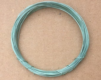 Coloured Copper Wire, Aquamarine, 0.5mm, 24 Gauge, 4m (4.3 yards) Metalwork,  Mixed Media, Jewellery making
