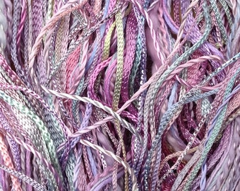 One Off, No.30 Light Candy Floss, Hand Dyed Embroidery Thread Selection, Mixed Threads, Variegated Thread Mixture, Creative Embroidery