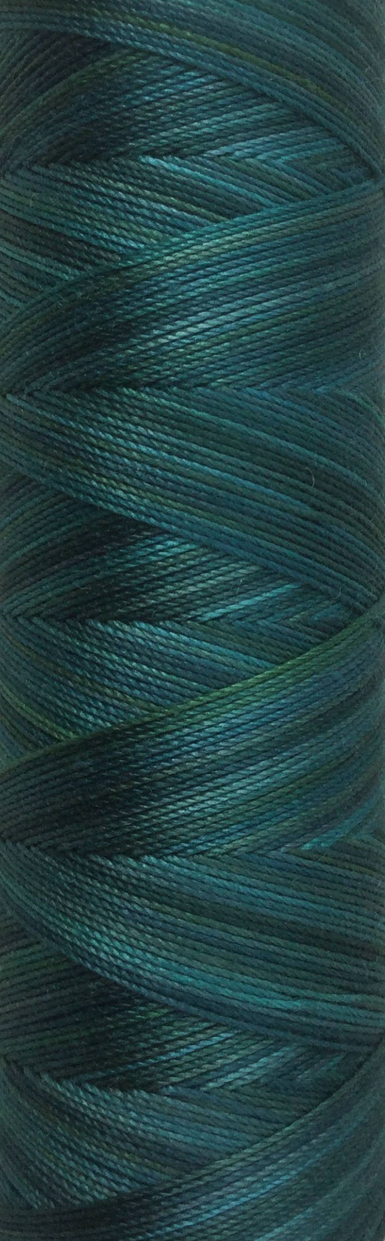 No.53 Ocean Hand Dyed Cotton Machine Thread Individual Spool image 0