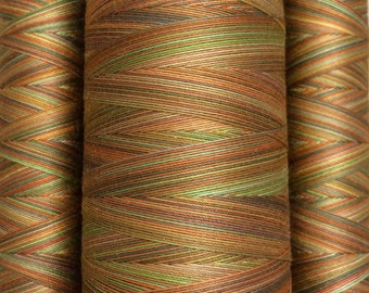 Multicoloured, Hand Dyed Cotton Machine Quilting or Embroidery Thread, Eygyptian Cotton 40wt., 150m (162yds) or 750m (820yds) Ref.SM06