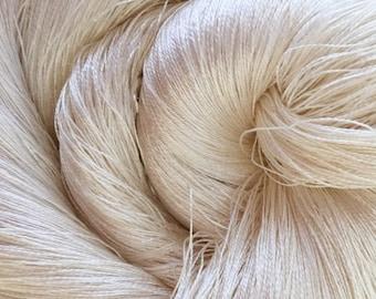 Mulberry Silk Yarn, Spun Silk Yarn, 60/2 Weight Yarn, Machine Embroidery Yarn, Miniature Knitting Weaving Yarn, Crochet Yarn