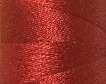 Rouge, Silk Machine Threads, 100% Mulberry, Luxury Silk Threads, Spun Silk, Solid Colours, Jewel Colours, 300m, 325yds