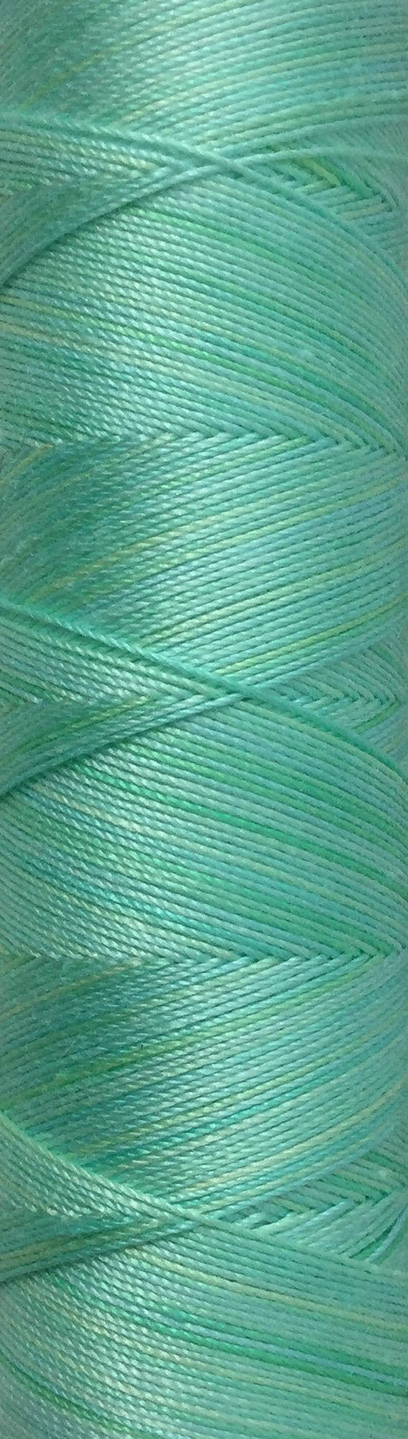 No.25 Spearmint Hand Dyed Cotton Machine Thread Individual image 0
