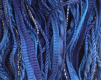 One Off, No.52 Ultramarine, Hand Dyed Cotton and Viscose Thread Selection