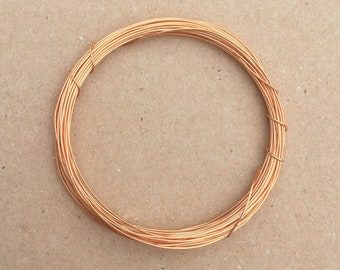 Coloured Copper Wire, Gold, 0.5mm, 24 Gauge, 4m (4.3 yards) Metalwork,  Mixed Media, Jewellery making