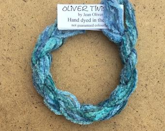 Silk Chenille No.38 Hydrangea, Hand Dyed Embroidery Thread, Artisan Thread, Textured Silk Thread