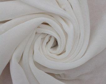 Silk Velvet, Silk Devore, Silk Fabric, Neutral Fabric, 20/80% Silk Viscose, 0.5 metre