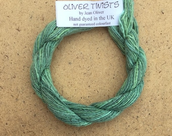Silk Bourette No.33 Aquamarine, Hand Dyed Embroidery Thread, Artisan Thread, Textile Art