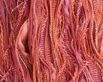Hand Dyed Cotton and Viscose Thread Selection, One Off, No.12 Terra Cotta, Hand Dyed Embroidery Thread, Canvaswork, Needlepoint