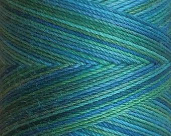No.08 Lagoon, Hand Dyed Cotton Machine Thread, Individual Spool 150m, Machine Embroidery, machine Quilting