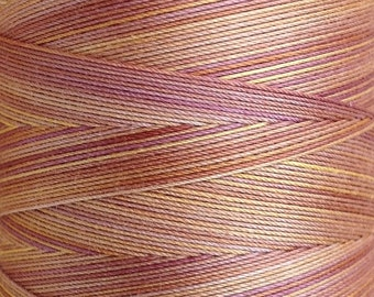 Hand Dyed Cotton Machine Quilting Thread, Machine Embroidery Thread, 750m (820yds) Colour No.07 Yellow Ochre, 992
