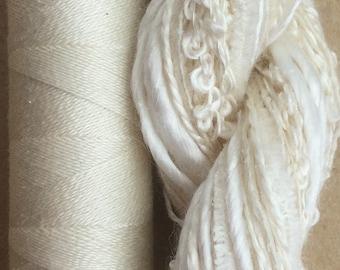 Silk Harmony, Undyed Silk Thread Selection and Silk Machine Thread, Embroidery Threads, Quilting Thread,  No.00 - Neutral