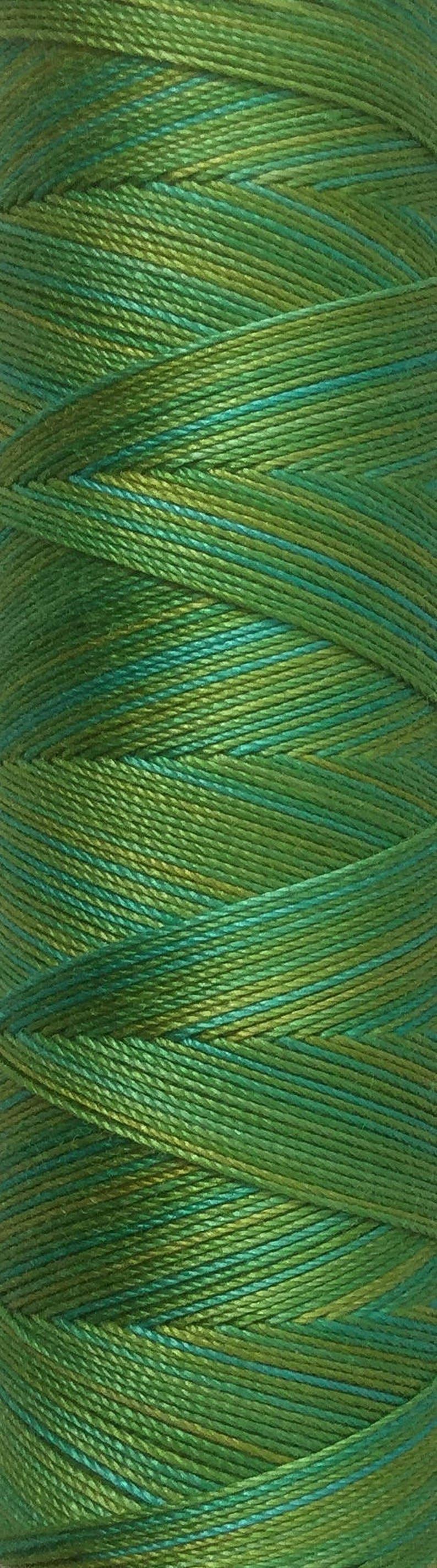 No.45 Spring Green Hand Dyed Cotton Machine Thread image 0
