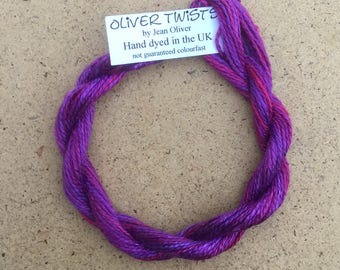 Silk 8/2 No.05 Violet, Embroidery Thread, Hand Dyed Embroidery Thread, Artisan Thread, Textile Art