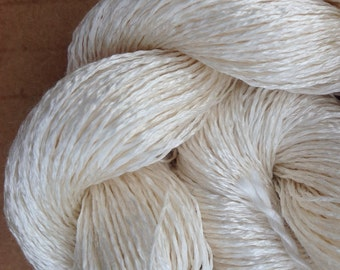 Silk 30/2 weight Yarn, Cobweb Lace Yarn, Silk Yarn, Weaving Yarn, Crochet Yarn, Natural, Undyed, Ivory,