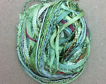 Tidbits, Pussy Willow, Hand Dyed Embroidery Threads, Creative Embrodery