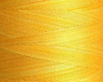 Hand Dyed Cotton Machine Quilting Thread, Machine Embroidery Thread, 750m (820yds) Colour No.51 Daffodil, Ref.848