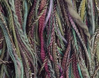 One Off, No.54 Moss, Hand Dyed Thread Collection, Cotton and Viscose Threads, Creative Embroidery, Art Threads, Braidmaking, Tasselmaking
