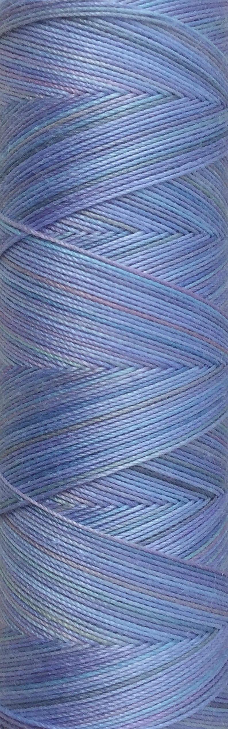 No.80 Sky Blue Pink Hand Dyed Cotton Machine Thread image 0