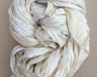 Sari Ribbon, Silk Ribbon, Undyed Sari Ribbon, Wide Silk Ribbon